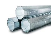 Galvanized octagonal profiles for blinds