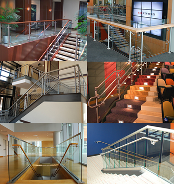 Aluminium profiles for banisters